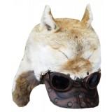 Головной убор шапка меховая оригинальная, с ушами, с очками и...
