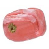 Головной убор шапка меховая искусственный мех розовый в асс.разм.