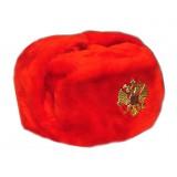 Головной убор шапка меховая искусственный мех красный в асс. разм.
