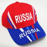 Головной убор Бейсболка Россия, Герб России, белый верх, синий...