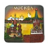 """Магнит полистоун 022-08-19K5 прямоуг. рельефный """"Москва. Коллаж..."""