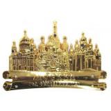 Магнит 027-1GBI-19K35 свиток Москва соборы цв.золото