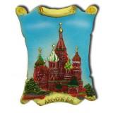 """Магнит 022-02-19  свиток декоративный рельефный """"Москва..."""