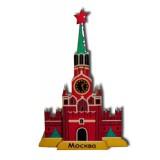 Магнит Кремль 3 Спасская башня малый деревянный