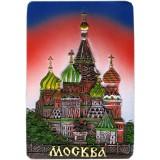 """Магнит полистоун 022-08-19-1 прямоугольный рельефный, """"Москва..."""