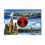 """Магнит 02-3-21-2R-19K10 мет.пл. вставка диск """"Москва.Сп.башн.""""..."""