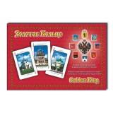"""Карты игральные 900-04A подарочный набор """"Золотое  Кольцо"""" 2 колоды..."""