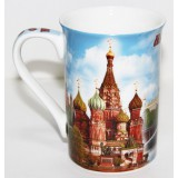 Кружка 061-19 костяной фарфор, цветная деколь, Москва, Храм Василия...