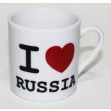 "Кружка 061-SM1-SR фарфоровая, ""I LOVE RUSSIA"""