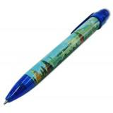 Ручка 464-17-B сувенирная Москва Панорама синяя
