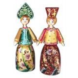 Кукла деревянная с кокошником 14, ручная работа, роспись