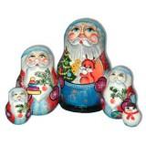 Новый Год и Рождество матрешка 5 мест дед мороз с белкой