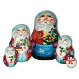 Новый Год и Рождество 5 мест Дед Мороз с мишкой и елкой в мешке