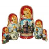 Матрешка 7 мест Москва, супер соборы В