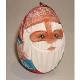 Новый Год и Рождество елочная игрушка яйцо резное Дед Мороз ПГ