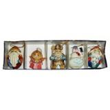 Новый Год и Рождество елочная игрушка набор 5 предметов в коробке М