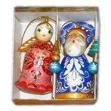 Новый Год и Рождество елочная игрушка набор 2 предмета в коробке Р