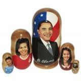 Матрешка политические лидеры Барак Обама, семья