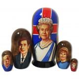 Матрешка политические лидеры Английская Королева Елизавета 2.