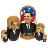 Матрешка политические лидеры Барак Обама, американские президенты
