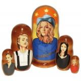Матрешка популярные певцы Мадонна