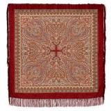 Платок Павловопосадский с шелковой бахромой 125 x 125 665-5...