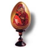 Яйцо пасхальное деревянное Владимирская божия матерь