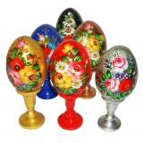 Яйцо пасхальное деревянное Цветы Жостово в асс.