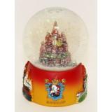 """Водяной шар 097R-45-19 полистоун, малый, красный, """"Москва.Храм..."""