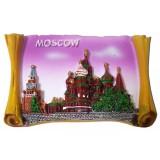 """Магнит полистоун 022-19-20 свиток рельефный """"Москва..."""
