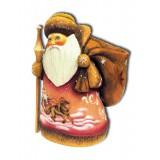 Новый Год и Рождество Дед Мороз с коричневым мешком, подставка...