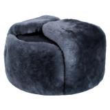 Головной убор шапка меховая цигейка, мех серый, 58 размер