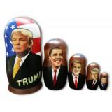 Матрешка политические лидеры Дональд Трамп, американские...