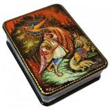 Шкатулка лаковая с элементами ручной росписи Жар-птица