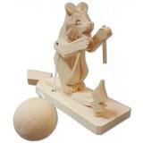 Богородская игрушка Мишка лыжник