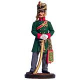Солдатик оловянный Наполеоновские войны Офицер гусарского полка...