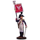 Солдатик оловянный Наполеоновские войны Офицер-орлоносец 6-го...