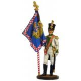 Солдатик оловянный Наполеоновские войны Офицер-знаменосец 5-го...