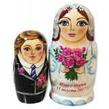 Матрешка Сергиево Посадская невеста и жених, свадебная, 2 места