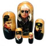 Матрешка политические лидеры Путин В.В. в военнной форме, 5 мест