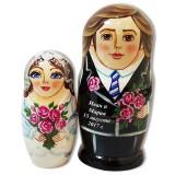 Матрешка Сергиево Посадская жених и невеста, свадебная, 2 места