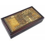 Береста шкатулка для денег, 100 EURO