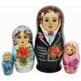 Матрешка Сергиево Посадская жених и невеста, свадебная с...