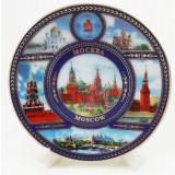 """Магнит керамический 026-7K6-20 тарелка D7 К6 """"Москва"""" фарф..."""
