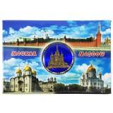 Магнит металлический 02-3-19B-19K11 Москва - коллаж, Храм Василия...