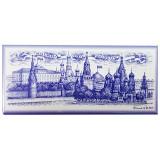 """Магнит металлический 02-2-22, с синим рисунком """"Москва..."""