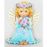 Магнит деревянный Ангел