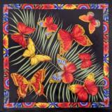 Платок Павловопосадский шелковый атлас, 89 x 89 1137-18 Фиджи