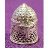 Наперсток шлем рыцаря, бронзовый сплав с посеребрением
