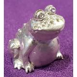 Наперсток Лягушка, бронзовый сплав с посеребрением